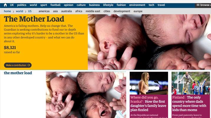Guardian US launches The Mother Load