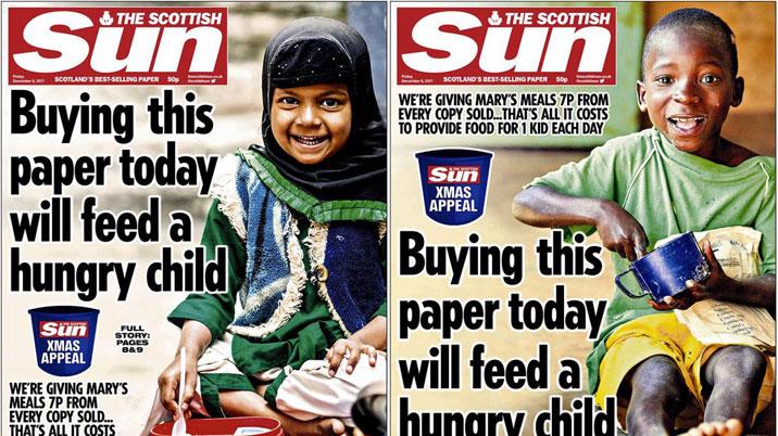 Scottish Sun raises cash for Mary's Meals