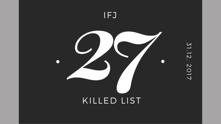 IFJ welcomes lowest number of killings of journalists for a decade