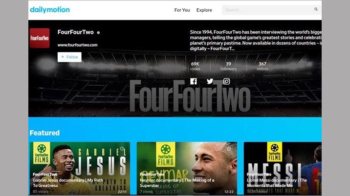 FourFourTwo partners with Dailymotion
