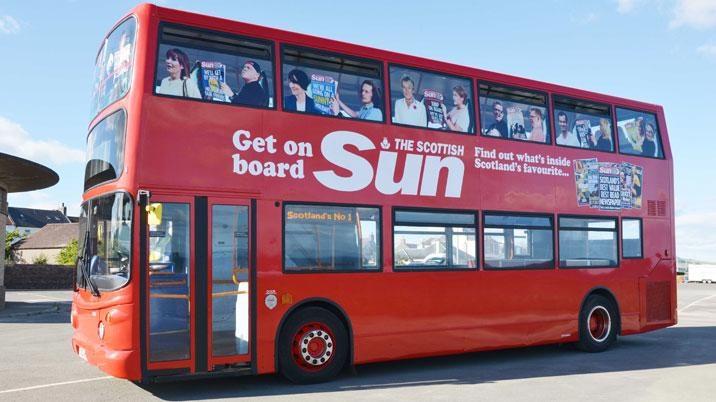 Scottish Sun Charity Bus Hits The Road