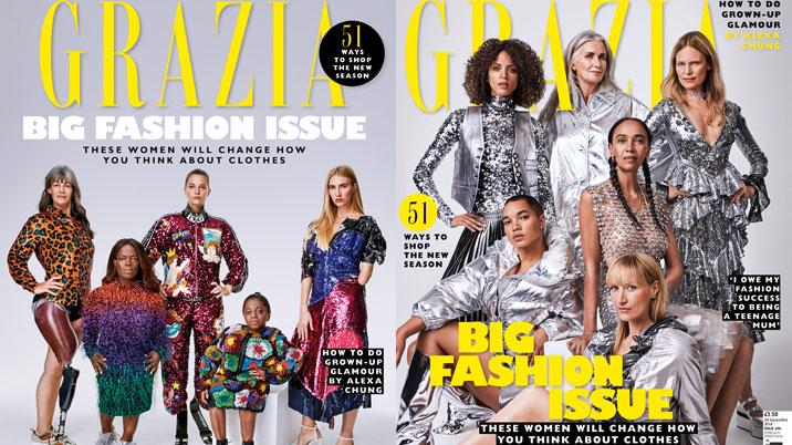 Grazia to publish split covers