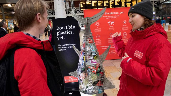 The Economist encourages Londoners to rethink war on plastic