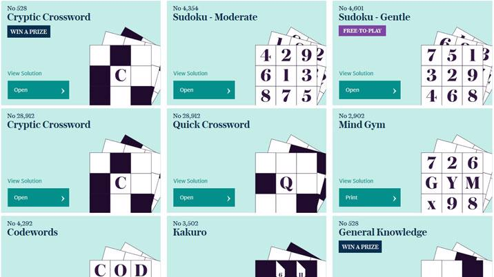 Telegraph relaunches puzzles website