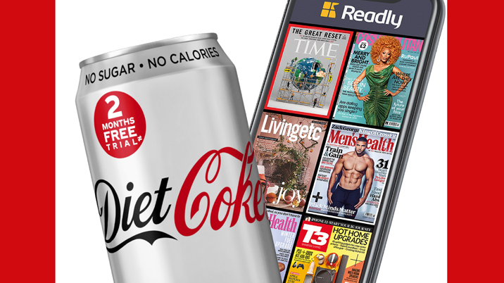 Diet Coke teams up with Readly for subs offer