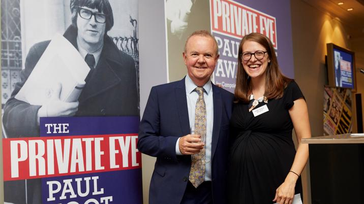 Emily Dugan wins Private Eye Paul Foot Award