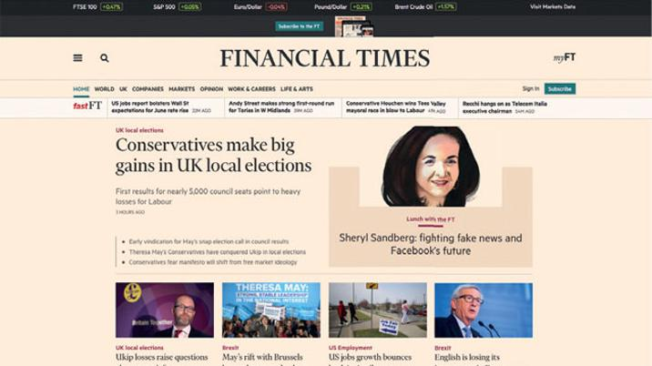 Why the FT has the best website