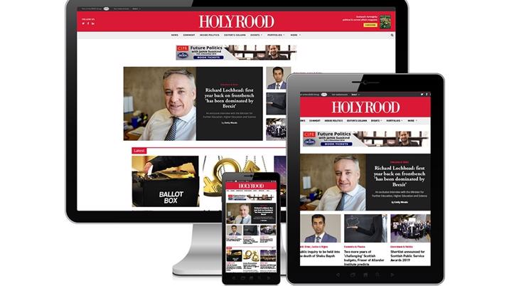 News site re-launched for Holyrood Magazine