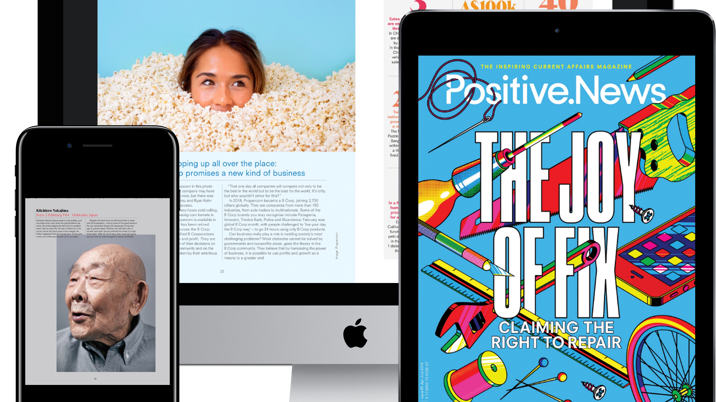 Positive News launches archive with Exact Editions