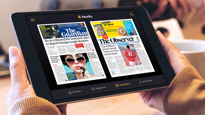 Three Guardian News & Media titles added to Readly's growing portfolio