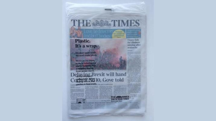 The Times moves to biodegradable wrapping