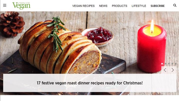 Vegan Food & Living launches new website