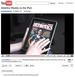 Athletics Weekly on iPad