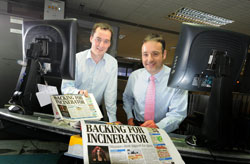 Paul Wheeler and Clive Want of Archant