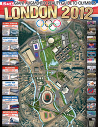 The Sun's Augmented Reality Olympics poster